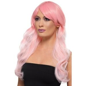 Ombre Wig Long Heat Resistant Styleable Layered Fancy Dress Baby Pink