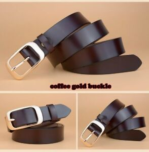 Genuine Leather Belt Woman Vintage Cow Skin Belts Top Quality Strap Female