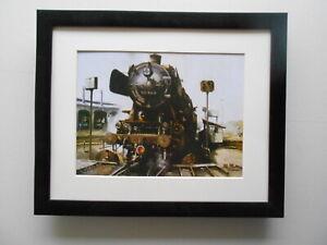 David Weston Steam Train print 'Steam At Hamburg'  FRAMED