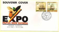 Sobre Conmemorativo. Papua Nueva Guinea.  Expo 1988