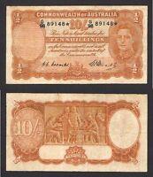 Australia R-14s.  1949 Coombs/Watt  Ten Shillings -  STAR NOTE..  aFine - Fine