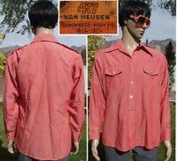 vintage 70s VAN HEUSEN 417 vanopress military disco shirt butterfly collar men L