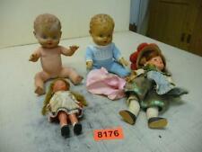 8176. 4 Stück alte Plastik Puppen Baby Puppe Schwarzwaldmädel