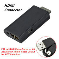 PS2 to HDMI Video Converter AV Adapter System+Audio Output Part for HDTV Monitor