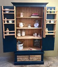 Kitchen Larder Pantry Storage Unit Hand Painted HAGUE BLUE FARROW & BALL