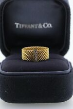 Tiffany 18k Gold Somerset Diamond Ring Eternity Wedding Band Sz4