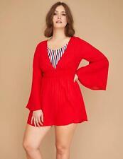 new  LANE BRYANT CACIQUE caftan kimono swimsuit cover up plus 18 20