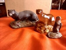 Otter ornaments x 3