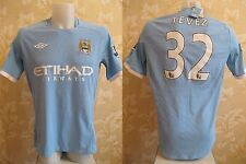 BNWT Manchester City #32 Tevez 2010/2011 Home Size 42 Umbro shirt jersey maglia