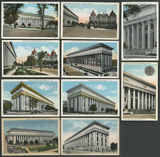 Albany NY: Lot of Ten c.1920s-30s Postcards STATE EDUCATION BUILDING & Area