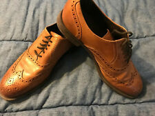 COLE HAAN Men's 7.5 M Dustin Wingtip Oxford Mens Brown Round Toe Lace-up C25805
