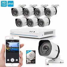 Zmodo 8CH 1080p HDMI NVR 720P Home Security Camera CCTV Surveillance System 1TB