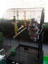 Large bird cage built. w/ bird toys