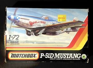 Vintage 1990 Matchbox 1:72 P-51D Mustang New in Box Unpainted Complete Kit Rare