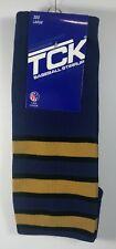 TCK Brand Baseball Stirrups Socks Blue Black Gold Size 300 Large 100% Nylon New