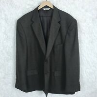 Pronto Uomo Lambswool Sharkskin Sport Coat Jacket Brown 2 Button Mens Size 52R