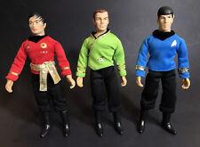 """MEGO Star Trek 2018-2019 Lot 8"""" Action Figures Kirk Spock & Sulu"""