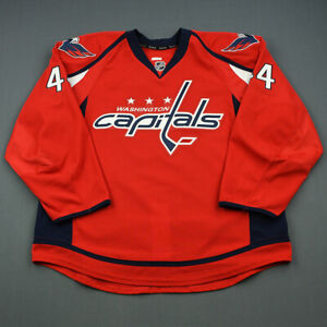 2013-14 Casey Wellman Washington Capitals Game Issued Hockey Jersey MeiGray NHL