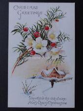 Christmas Card: A VERY CHEERY CHRISTMASTIDE....c1928 by J.Salmon 3483