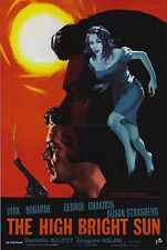 THE HIGH BRIGHT SUN/MCGUIRE GO HOME original poster DIRK BOGARDE/GEORGE CHAKIRIS