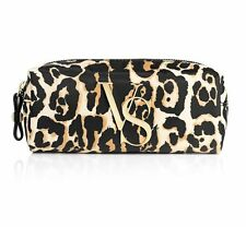 NEW VICTORIA SECRET SMALL LEOPARD COSMETICS BAG MAKEUP POUCH