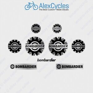 """Silver Sea Doo Bombardier Vinyl 4"""" 101mm Laminated Decals Stickers Emblems BRP"""