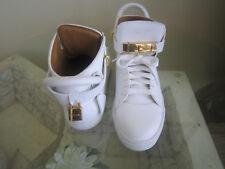 Buscemi Turn Lock 10.5 EU 41 white leather braid trim high top sneaker shoe $890