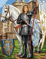 Royal Paris Wandteppiche / Nadelspitze Leinen - St. Joan von Arc (Sainte Jeanne