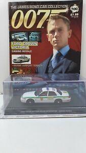 1/43 JAMES BOND 007 DIE CAST  FORD CROWN VICTORIA  #100  MAGAZINE