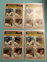 1981 Topps 1980 Bears Team Leaders Walter Payton Dan Hampton James Scott 1 Card