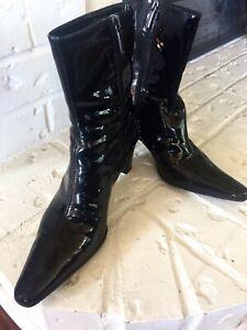 Aquatalia Black Rain Boots 8.5 Leather $298