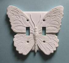 BUTTERFLY light switch plate wall cover double toggle switchplate outlet decor