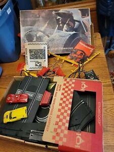 1967 SEARS STROMBECKER EUROPEAN ENDURO RACING SET 2 SLOT CARS TOY BOX VTG 9519