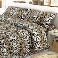 Completo Lenzuola Matrimoniale 2 Piazze Leopardato Leopardo Cotone Made in Italy