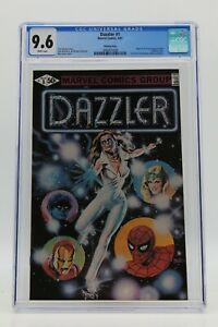 Dazzler (1981) #1 Printing Error CGC 9.6 Blue Label White Pages 2 Pages In B&W