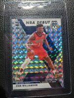 2019 20 PRIZM MOSIAC SILVER NBA DEBUT #269 ZION WILLIAMSON ROOKIE CARD RC GEM MT