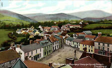Tregaron. The Square & Monument from the Church Steeple # 13977 in Wrench Series