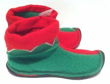 NWT Elf Booties Red Green Boiled Wool Slippers Germany YOUTH 1 32 EU Christmas!