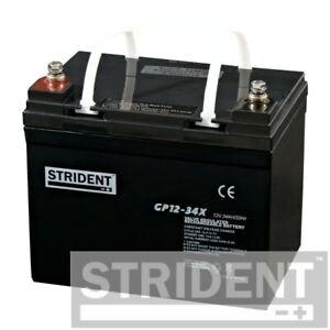 Pair of Strident 34ah 12v Batteries, Rascal 388, 388XL, Vantage X & Revoked 2.0