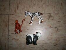 Vintage Playmobil lot of small baby zoo pet animals Zebra Panda Monkey