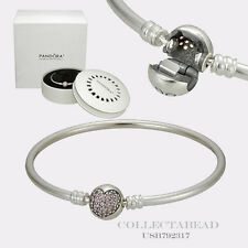 Authentic Pandora Silver Circle Of Love Bangle 6.7 USB792317