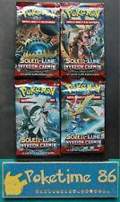 Pokémon, ARTSET de 4  boosters  SL4, INVASION CARMIN , Français, neufs