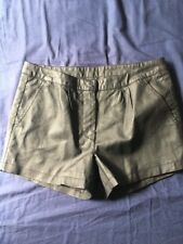 Vila High Waisted Vegan Leather Black 70's Festival Hotpants Shorts Size
