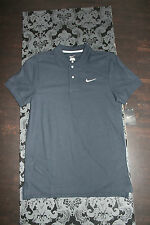 Nike Polo Maglietta Uomo Cotone Nero Taglia S nuovo con etichetta