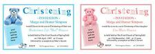 10 Christening Cards, Naming Day, Baptism, Dedications - invites with envelopes