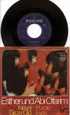 Esther & Abi Ofarim Never Grow Old / Purple Eyes 45 & Ps Picture Sleeve Germany