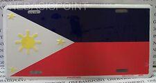 Philippines Flag License Plate Aluminum Metal Car Filipino Tag Auto Sign Vanity