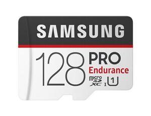 Samsung PRO Endurance 128GB microSDXC 100MB/s UHS-I Memory Card with Adapter-UK