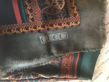 Gucci oversized  Scarf Shaw Wrap  Wool/Silk Italy  Men's Women's