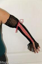 sexy gants lacés en satin NAUGHTY JANET taille M   NEUF ÉTIQUETTE valeur 340€